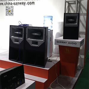 Sanway L-1&L-2 Full Range Speakers in 2017 Guangzhou Prolight+Sound Expo